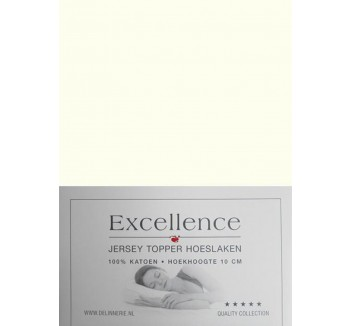 Excellence Jersey Topper Hoeslaken - Tweepersoons - 160x200/210 cm - Natural